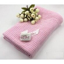 Breathe Freely Summer Cotton Baby Swaddling Blanket Newborns Soft Crochet Shawl Bed Spread Bath Towels Sleeping Bed Supplies