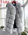 New Female Faux Fox Fur Coat Vest Big Long Fur Vests Plus Size Slim Jacket Sashes Women's Winter Warm Vest and Coats Female
