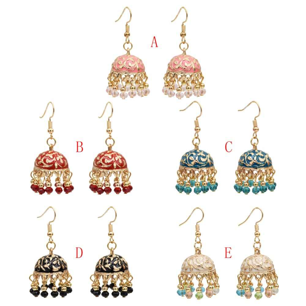 f32df18d0 ... New Ethnic Indian Resin Beads Statement Earrings for Women Hippie Gypsy  afghanistan Thailand Wholesale Festival Jewelry ...