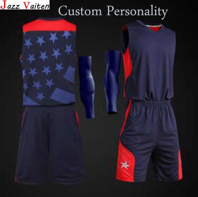7f79a66f9ad 2019 new arrived Men basketball jerseys set with pants customs hiphop street  basketball uniform shorts top