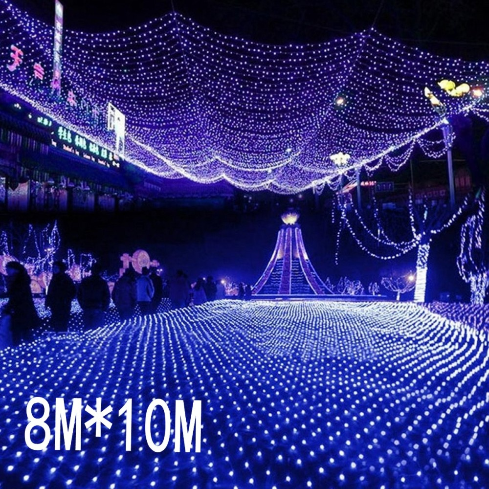 8mx10m 2600 Led 220V super bright net mesh string light xmas christmas light new year garden