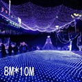 Супер яркий сетчатый светильник  8 м x 10 м  2600 светодиодов  220 В