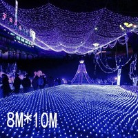 8mx10m 2600 Led 220V super bright net mesh string light xmas christmas light new year garden Lawn wedding holiday lighting