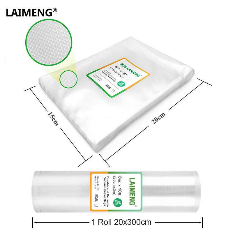 LAIMENG torebki próżniowe 1 pakowania próżniowego rolka z tworzywa sztucznego 20*300CM torby do przechowywania żywności rolki do próżniowa do kuchni folia typu stretch B101