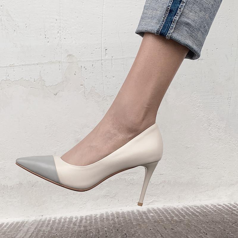 Printemps Couleurs Faible Pointu Nouveau Sur Bout Noir Krazing Mélangées 2019 Femmes Discothèque De Chaussures Pompes Super Mariage Mode Glissement Pot Haute L63 gris rCxodBQeW