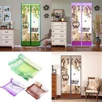 90 100X210cm Magnetic Screen Door Net Anti Mosquito Magic Hands Free Bug Door Curtain Mesh