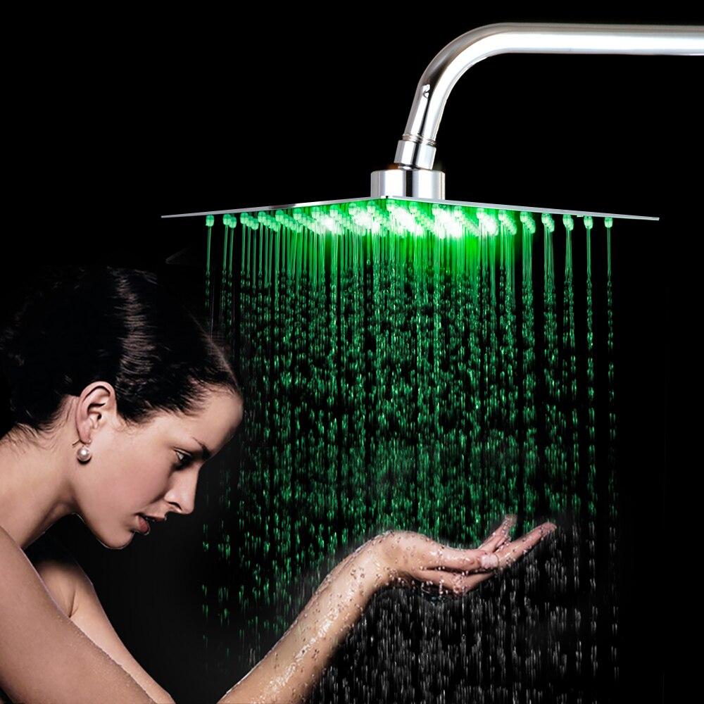 KEMAIDI Shower-Head Led-Light Bathroom Rain High-Pressure Chuveiro Without-Arm 4-6-8-10-12-