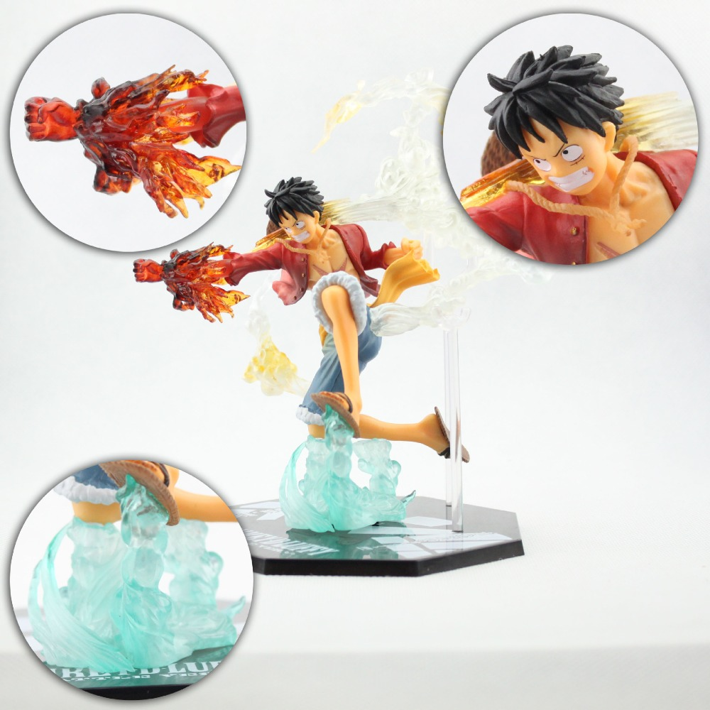 Anime One Piece Monkey D Luffy Action Figure PVC Roronoa Zoro Fighting Figure World Toy Onepiece model 15CM A199