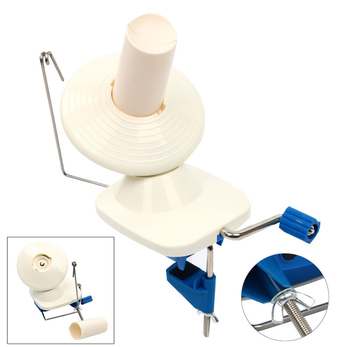 Portable Hand-Operated hilo de lana fibra bobinadora bola rosca madeja devanadera del Cable para DIY que hace la costura artesanía herramientas