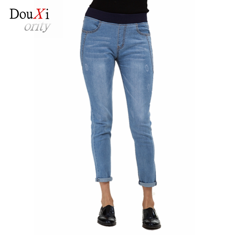 Fashion Large Size S-4XL Summer Women Jeans Ankle Length Pencil Pants Stretch Skinny Slim Denim Trousers Pantalon Femme Mid Rise high waist jeans women plus size femme stretch slim loose large size jeans pants 2017 casual ankle length haren pants trousers