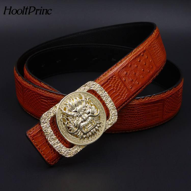 2018 brand dragon head solid brass buckle full grain genuine leather belt designer belts for men waist strap casual girdle jeans