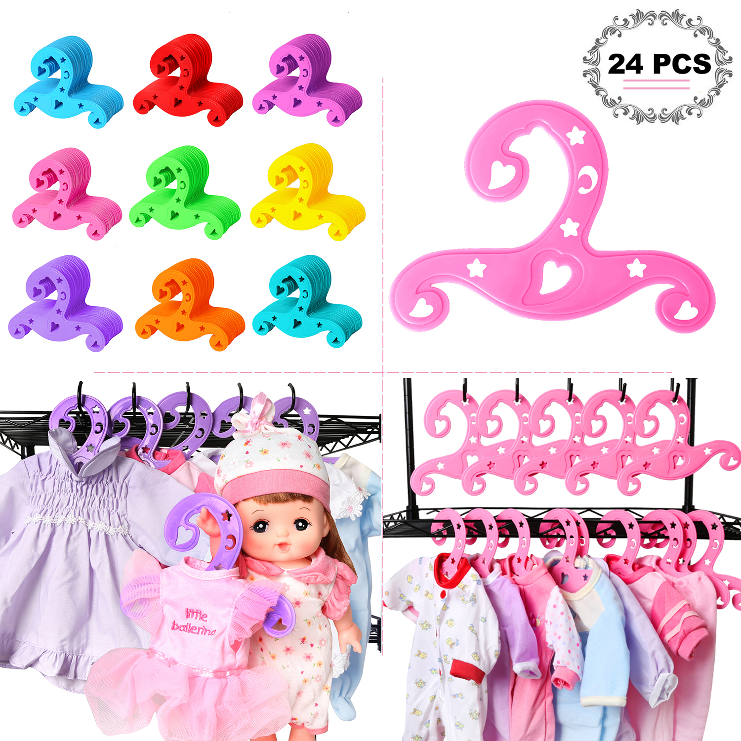 LOT OF 12 OUTFIT HANGERS FIT AMERICAN GIRL DOLLS
