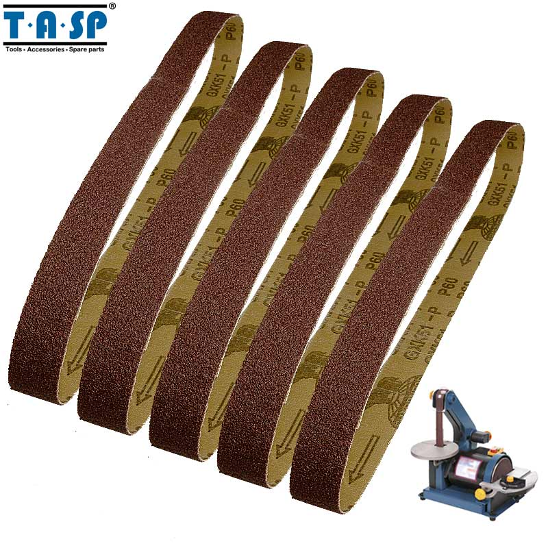 Active Tasp 5pcs 1x30 Abrasive Sanding Belt 25x762mm Belt Sander Sandpaper Aluminium Oxide Woodworking Tools Modern Techniques Tools