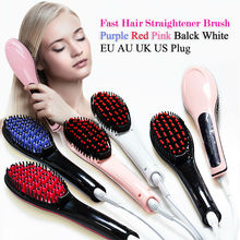 LCD Electric Brush Hair Straightener Comb Professional Straightening Iron Comb Straight Hair Brush Styling tool Escova alisadora