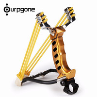 Ourpgone Brand New Bow Arrow Powerful Aluminium Alloy Slingshot Crossbow Hunting Sling Shot Catapult Outdoor +Free shipping!!!