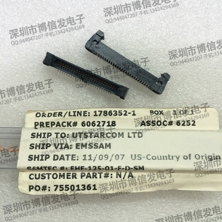 EHF - 125-01 - F - D - SM SAMTEC imported from 50 pin <font><b>1.27</b></font> <font><b>mm</b></font> spacing image