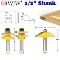 3pcs 1 2 Shank Rail Stile With Panel Bit Router Bit Set Ogee Woodworking Cutter Tenon