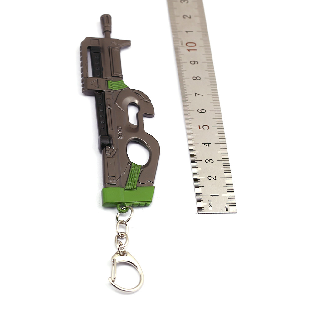 Kids Christmas Gifts Toy Fortnight Battle Royale Action Figure FORTRESS Gun Model Alloy Weapons FORTNIGHT Keychain Fort Night in Key Chains from Jewelry Accessories