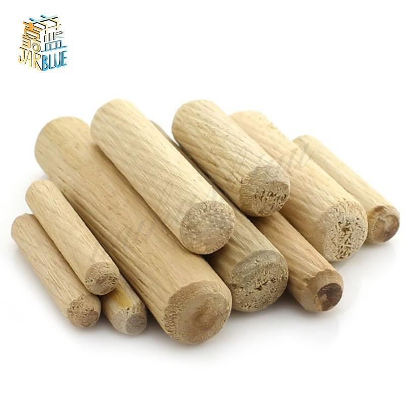 M6/M8/M10*L Mm Wooden Dowel Cabinet Drawer Round Fluted Wood Craft Dowel Pins Rods Set Furniture Fitting Wooden Dowel Pin