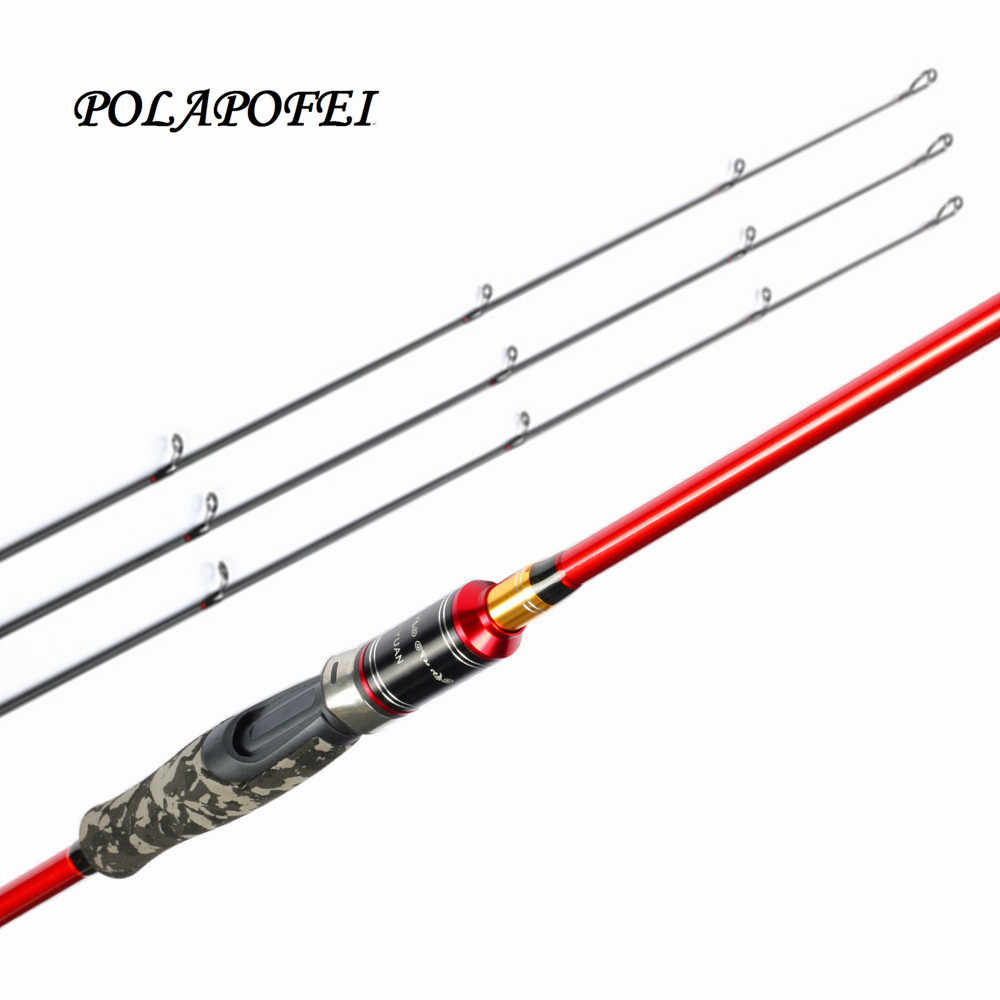 14ab89e29bb POLAPOFEI 3 Tips 2.1m Carbon Spinning Rod Fishing Rods Peche Pesca Feeder Casting  Rod Lure
