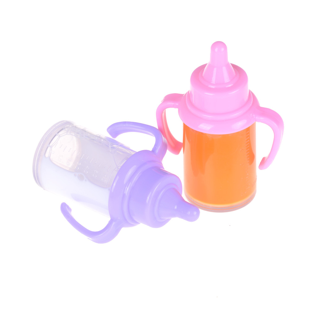 White Dummy Magnetic Pacifier Doll Bottle For Reborn Baby Dolls Accessories