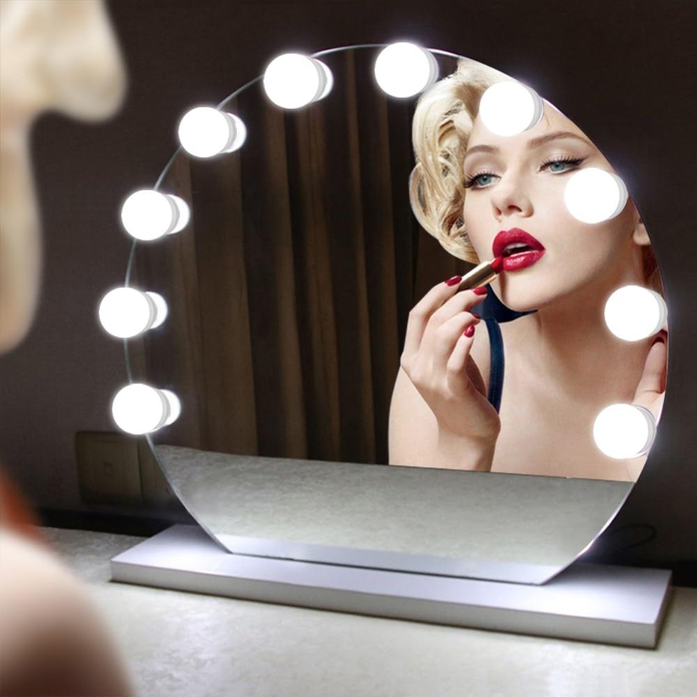 10W Makeup Mirror Vanity LED Light Bulbs Kit for Dressing ...
