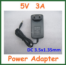 5 V 3A 3.5×1.35mm/3.5*1.35mm Cargador de LA UE EE.UU. Plug Power Supply Adaptador Universal 3A Real de Alta Calidad