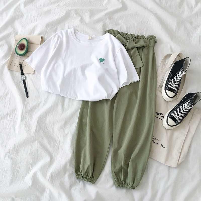 2 peça conjunto de roupas de verão de duas peças conjunto de roupa de treino de verão feminino casual harem pant terno