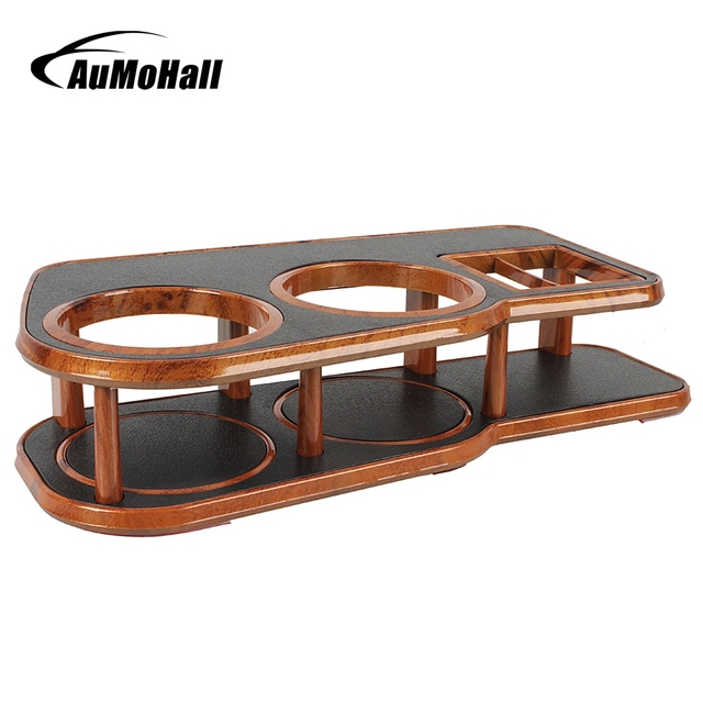 AuMoHall Car Cup Stand Drink Holder Coffee Clip Beverage Coffee Holders Drinks Wood Grain Mount