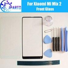 Lente de tela de vidro para xiaomi mi, lente frontal de 100% para xiaomi mi mix 2 mix 2s + ferramentas