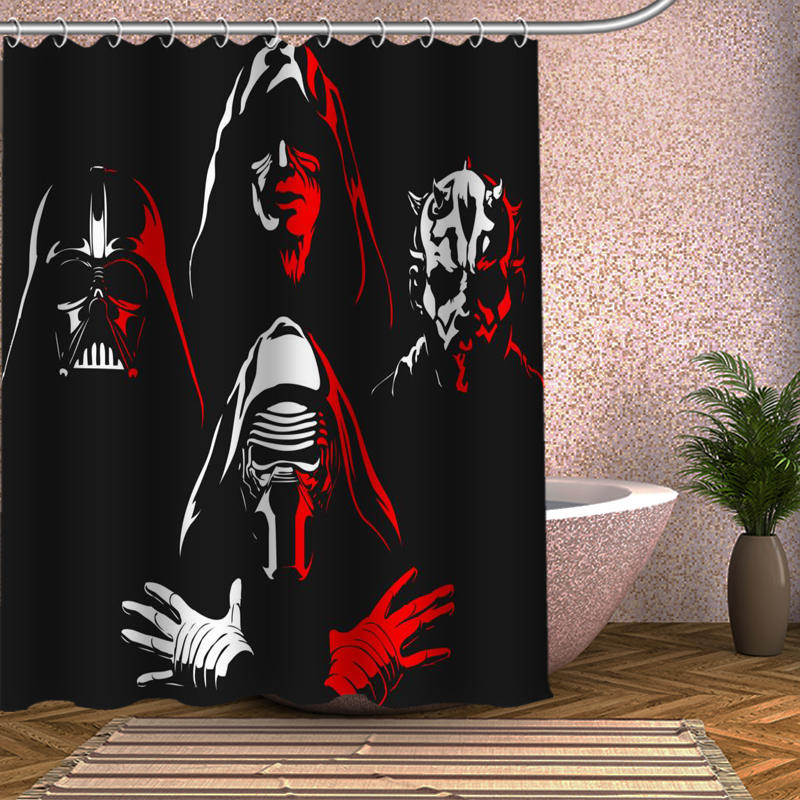 Cool Cartoon Darth Vader Shower Curtain Custom Made Design Unique Waterproof Bathroom Curtains In From Home Garden On Aliexpress
