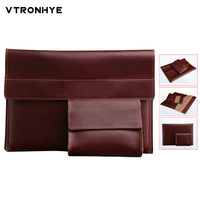 11 13 15.4 inch Leather Laptop Bag for Macbook Air 11.6 13.3 Pro Retina 13 15.4 Ultra Slim Laptop Sleeve for Macbook Pro 13 Case