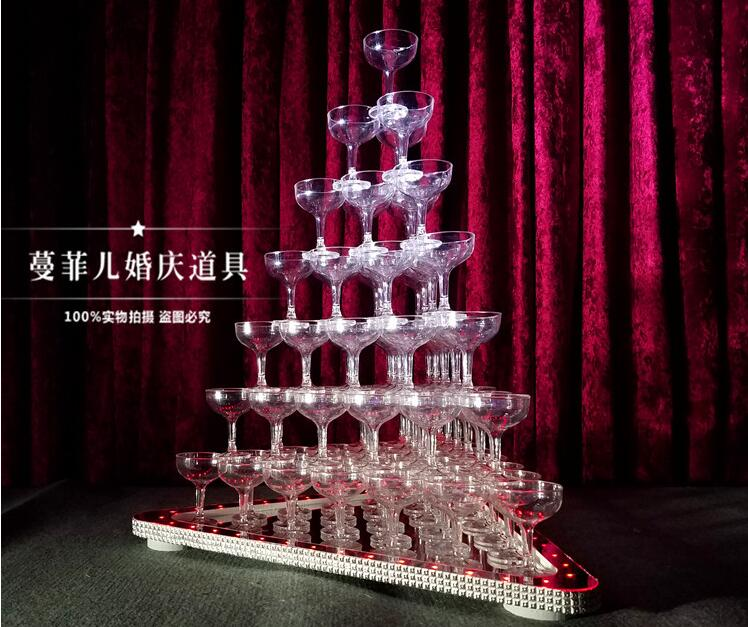The new champagne tower triangle champagne tower light champagne tower wedding champagne tower candlesticksThe new champagne tower triangle champagne tower light champagne tower wedding champagne tower candlesticks