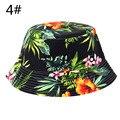 Unisex Floral Sombreros de Sun Divertido Novedad Playa de Vacaciones de Verano Al Aire Libre Cubo del Casquillo del Sombrero de Pesca Sol Protetion para Hombres Mujeres
