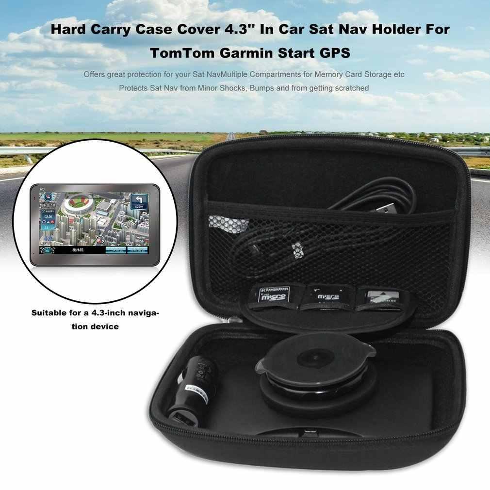 newPU Hard Carry Case Cover 4 3inch Car Sat Nav Holder For TomTom Garmin  Start GPS Navigation Protective Package Cover Bag