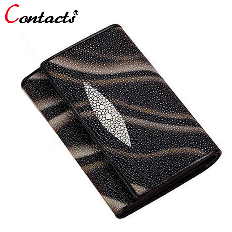 CONTACT'S women wallet Genuine Leather Wallet Women Luxury Brand Female Purse Card Holder Short Lady Clutch money bag Walet new