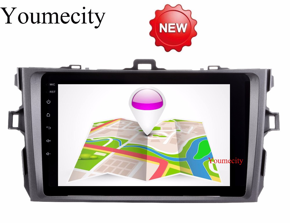 Youmecity 2G RAM Android 7 1 for Toyota corolla 2007 2008 2009 2010 2011 car dvd