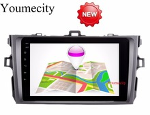 Youmecity 2G Ram Android 7.1 para Toyota Corolla 2007 2008 2009 2010 2011 coche DVD gps radio Player estéreo WiFi BT RDS