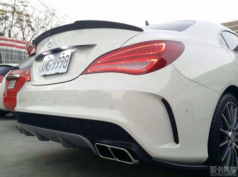 W117 cla260 cla45 carbon fiber rear trunk lip spoiler wing for Mercedes benz spare parts price list