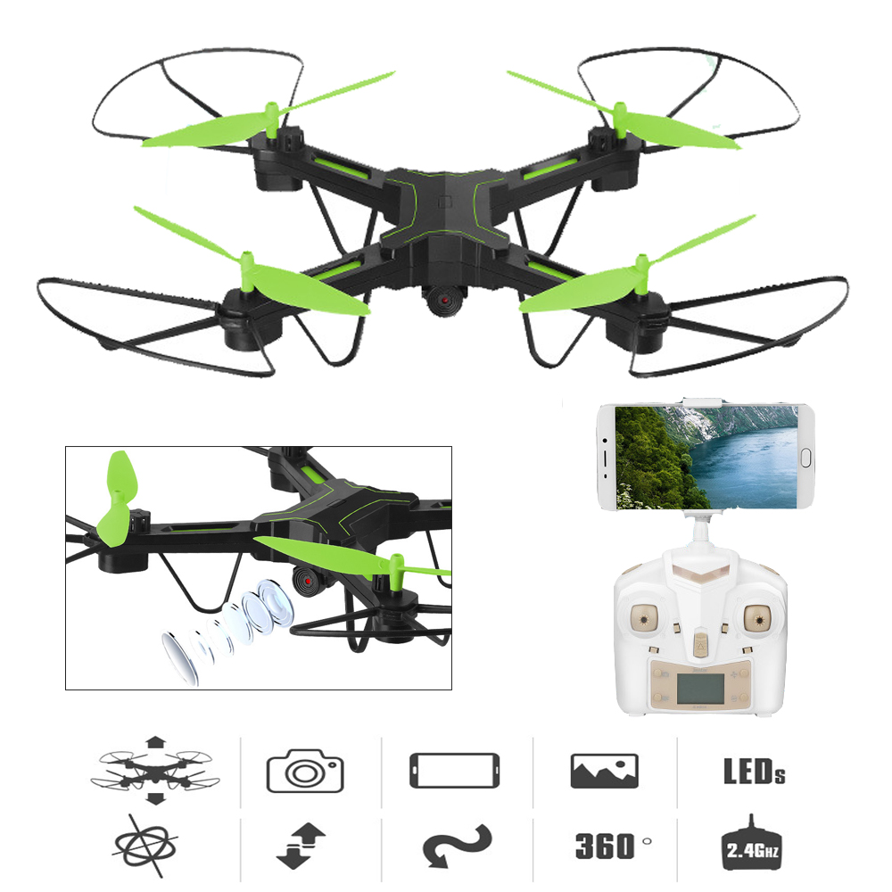 EBOYU X7TW 2.4G Speed Switch Wifi FPV Real-time 0.3MP HD Camera w/ Headless Altitude Hold RC Quadcopter Drone One Key Return jjrc h8d 2 4ghz rc drone headless mode one key return 5 8g fpv rc quadcopter with 2 0mp camera real time lcd screen s15853