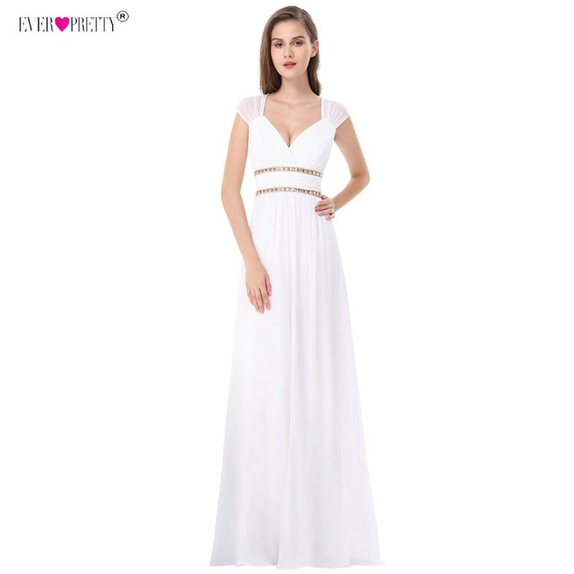 Ever Pretty Beach Wedding Dresses New A-Line Lace Beading Chiffon Plus Size Wedding Bridal Gowns Under 50 Vestido De Noiva