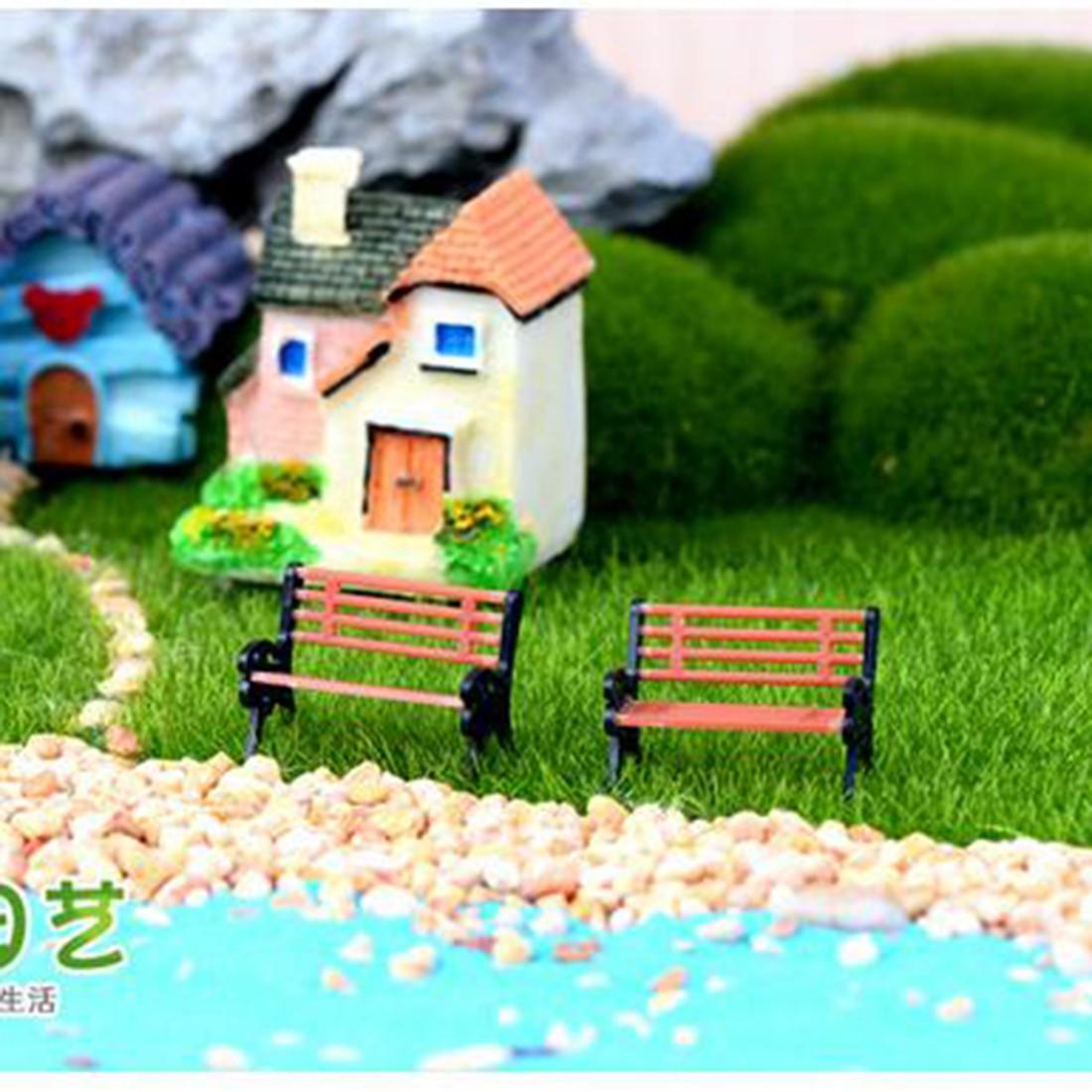 Big sale 1pcs park bench seat moss bottle micro landscape for Garden accessories sale