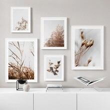 Природа фермерский завод цветок лист Пшеница художественная стена с цитатой холст живопись скандинавские плакаты и принты настенные картины для декора гостиной
