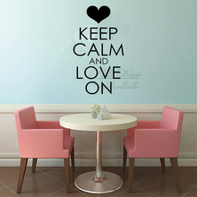 Keep Calm And Love On Quote Wall Sticker Motivational Decal Removable Lettering Decor Vinyl Q299