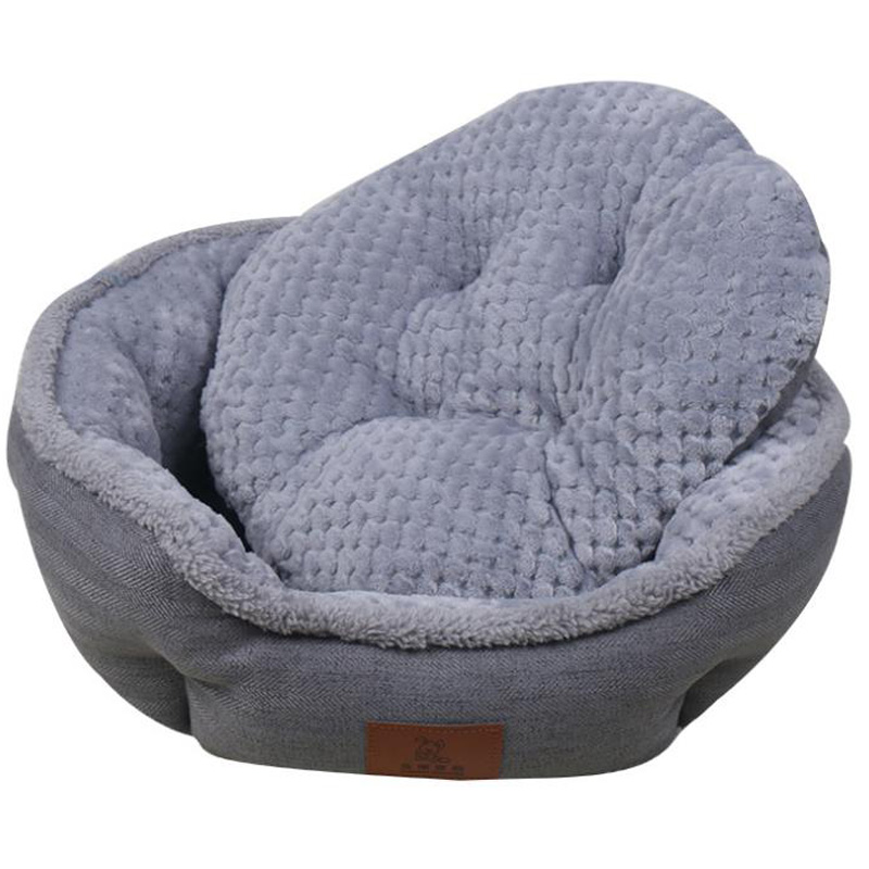 Amazing Durable Linen Cloth Dog Basket Round Soft Cat Nest Cozy Pet Squirreltailoven Fun Painted Chair Ideas Images Squirreltailovenorg