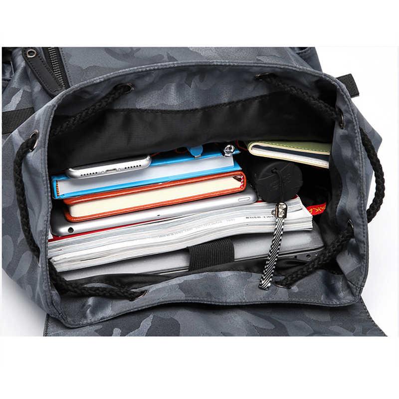 Рюкзак KAKA мужской Противоугонный рюкзак мужской водонепроницаемый ранец школьный рюкзак для путешествий спортивный Оксфордский рюкзак сумка для мужчин