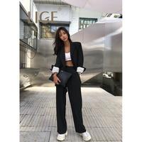 LIGE 2019 spring new Korean women's OL fashion blazer loose slim thin oversize blazers