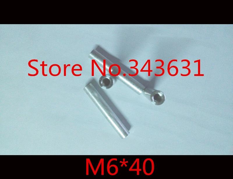 10 Stks/partij M6 * 40 M6 X 40 Aluminium Ronde Standoff Spacer Breiden Lange Moer Non-Strijkservice
