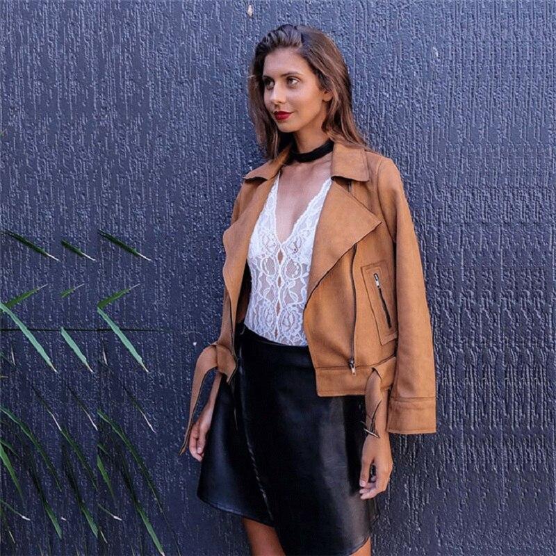 brown Moto Vestes Manteau Femmes Outwear Vêtements Tops Grey Veste 2018 Courtes Nouvelle Ceinture En À Daim De pink D'hiver Glissière Base Madame Fermeture UBPwPf7q