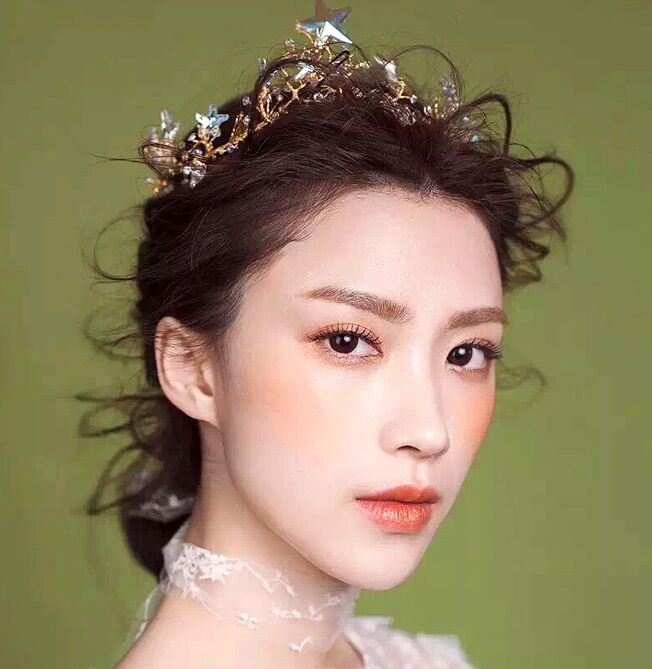 Free shipping crystal stars tiaras dream fancy cosplay decoration hair decoration